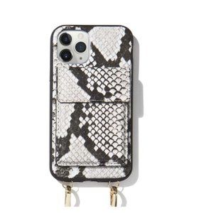 Sonix Gray Python Crossbody Wallet Case for iPhone